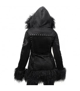 Killstar Kunstfell Shearling Mantel Salem City