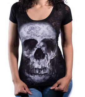 Lethal Angel Shirt Skull Couple