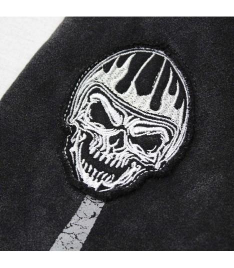 Lethal Angel Stonewash Zip Hoody Faster Skull