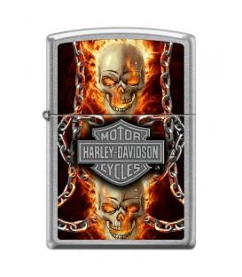 Zippo Harley Davidson Burning Skull