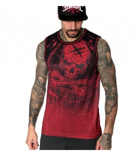 Hyraw Basketball Tank Red Blazon