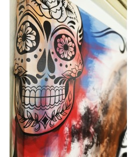 Barmetal Leinwand 90x60 CM Watercolor Catrina