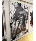 Barmetal Leinwand 90x60 CM Puzzle Catrina