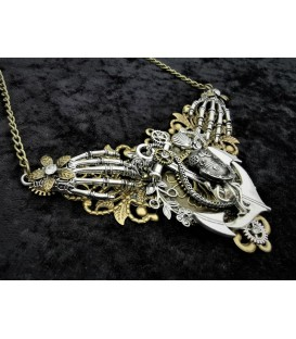Steampunk Halskette Nautical Skull Hands
