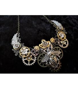 Steampunk Halskette Königsbiene