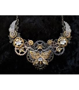 Steampunk Halskette Schmetterling