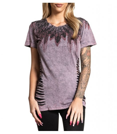 Affliction Shirt Feathered Wings 2 in 1 Reversible