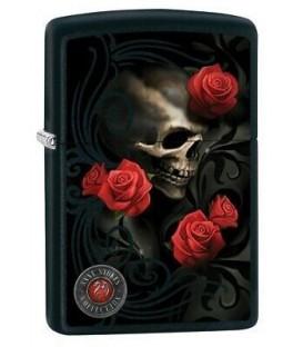 Zippo Anne Stoke Skull Roses